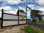 Our front gates on the Warrego Highway, Dalby.