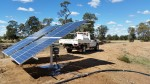 A solar panel near Moonie, installed on site by our Irrigation technicians.
